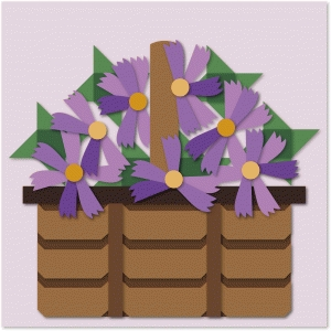 asters basket quilt block