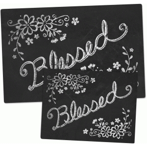 chalkboard set - blessed