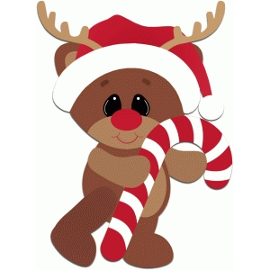 reindeer holding candy cane christmas - Candy Cane Christmas