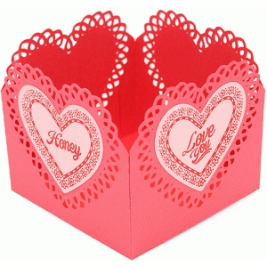 valentine treat container