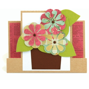 a2 flower pot center step card
