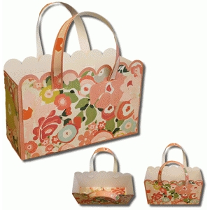 3d large scallop double handle gift bag