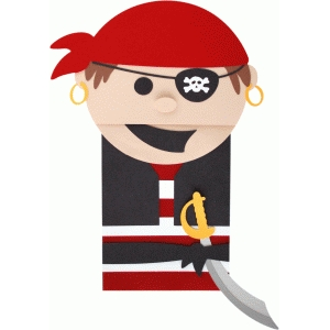 pirate boy paper sack puppet