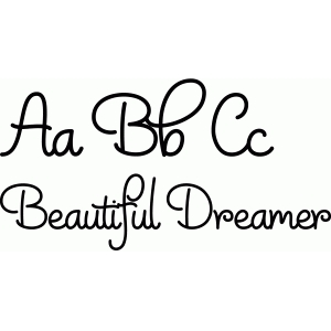 rr beautiful dreamer font