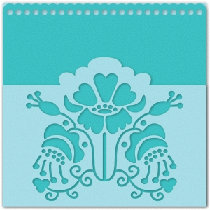 floral pocket card