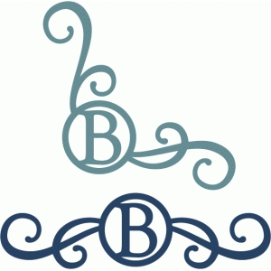 monogram seal flourishes b