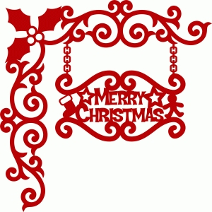 merry christmas damask corner 2