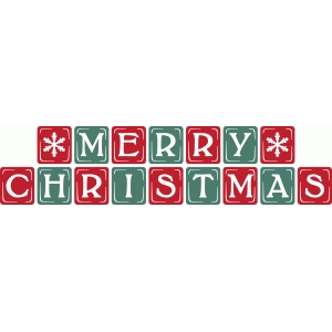 vintage block letters – merry christmas