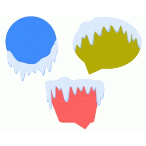 snowy speech bubbles