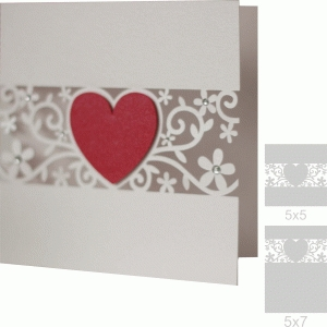 5x5 and 5x7 heart flourish card