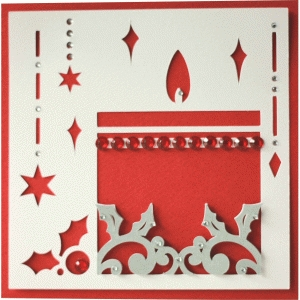 5x5 christmas candle layer card