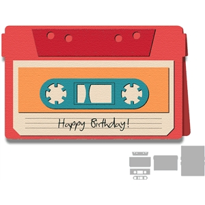 cassette tape shape card