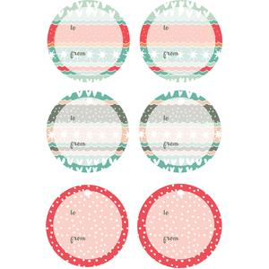 winter love round gift tags
