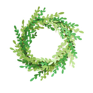 3d boxwood wreath