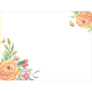 rose journaling card