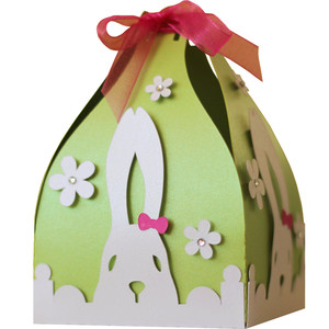 3d easter bunny favor box