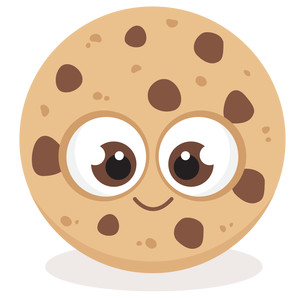 cute chocolate chip cookie