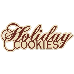 'holiday cookies' word phrase