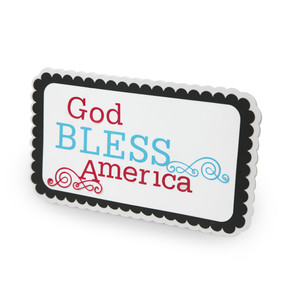 god bless america quote in a frame