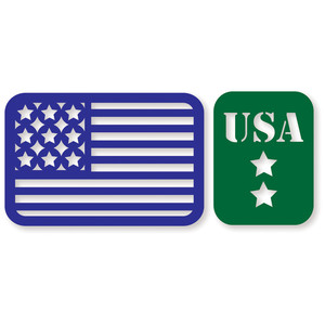 pl cards - usa flag/usa military stars
