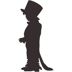 boy in dads tails and top hat