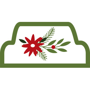 christmas flower tag