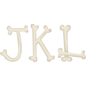 bone alphabet jkl