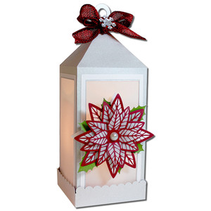 poinsettia lantern (flameless)