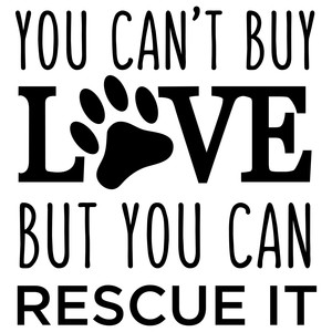 you can't buy love rescue dog phrase
