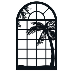 tropical view window