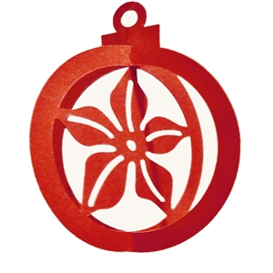 3d christmas ornament-poinsettia