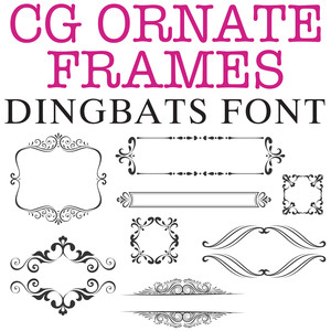cg ornate frames dingbats