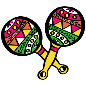 colored maracas
