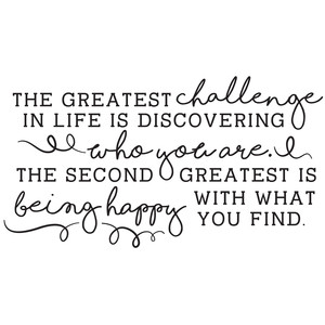 the greatest challenge in life quote