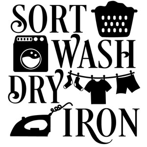 sort wash dry iron
