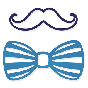 bow tie and mustache