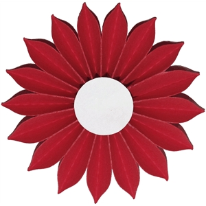 3d pleated accordion flower