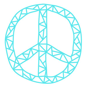 geometric peace sign