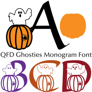 qfd ghosties monogram font