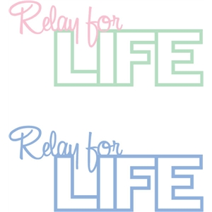 relay for life phrase