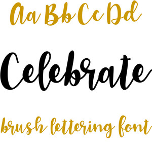 celebrate brush lettering font