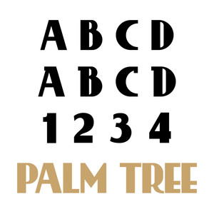 palm tree font