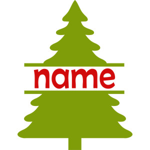 personalized name christmas tree