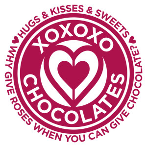 valentine circle label - chocolate