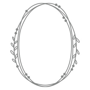 simple leaf vine frame