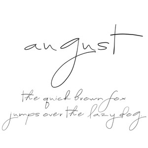 cg august font