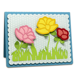 a2 stitched flower card