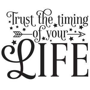 trust the timing of your life quote