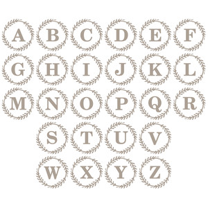 monogram set with wreath