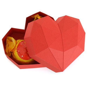 mini low poly heart box